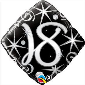 "18 Sparkle & Swirl 18"" Balloon"