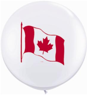 Canada GIGANTIC 3 Ft. Latex Balloons - 2 Pack