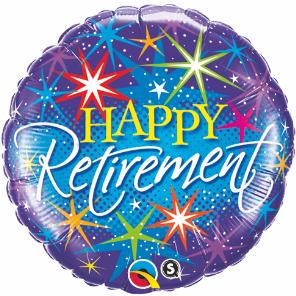 Retirement - Colorful Burst Large Foil Balloon