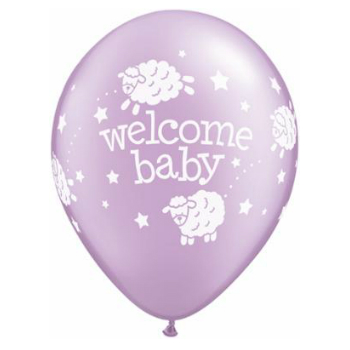Welcome Baby Lambs Latex Balloons 50 Pk