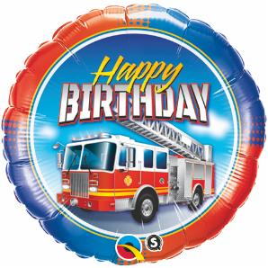 Fire Truck Party Supplies: Large B Day Balloon