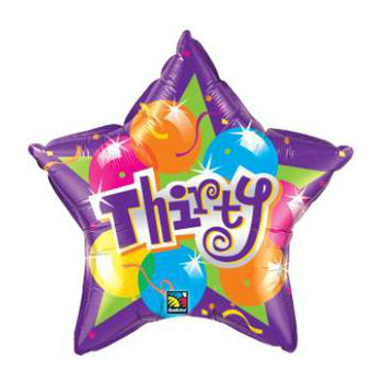 "30 Star Shaped 20"" Foil Balloon"