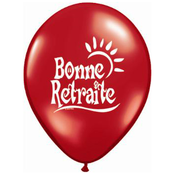 "Bonne Retraite Sun Assorted 11"" Latex Balloons 100 Pk"