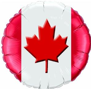 50% OFF: Large Canadian Flag Foil Balloon