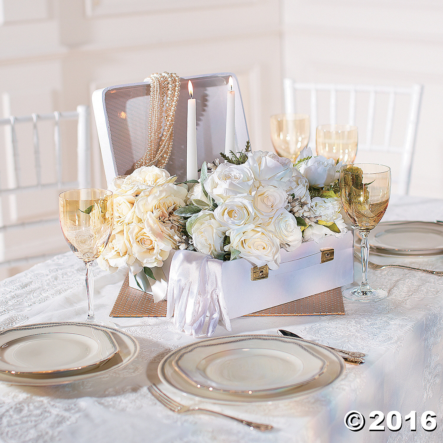white suitcase centerpiece party supplies canada