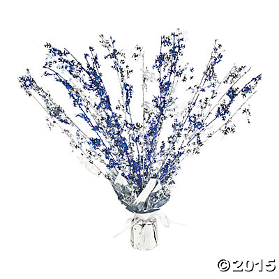 Winter 16 Inch Foil Centerpiece