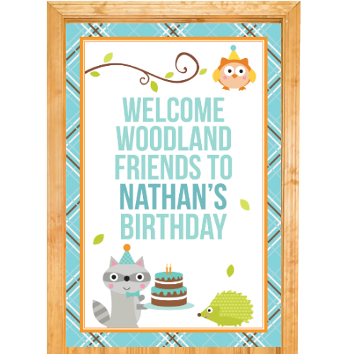 Woodland Boy PERSONALIZED Giant Door Sign