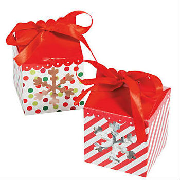 christmas treat boxes with ribbon handles 6 pack