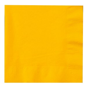 Sunflower Yellow Lunch Napkins Big 50 Pack