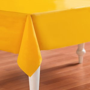Sunflower Yellow Plastic Table Cover