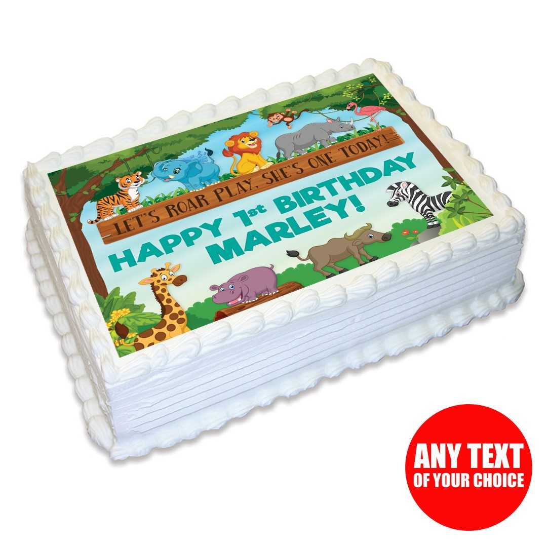 Zoo 1st Personalizable Edible Icing
