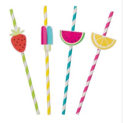 cherry straws tuitti fruitti party supply watermelon straws pineapple straws paper twotti fruitti fruit decor Tuitti Fruitti straws