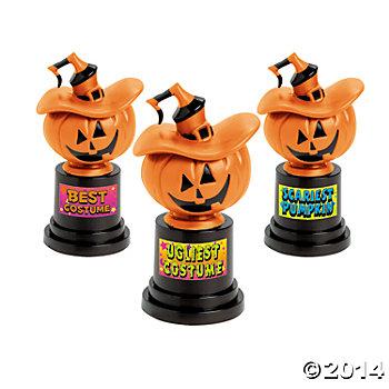 Halloween Trophy Best Costume Contest Trophy Pumpkin Carving Contest Jack O Lantern Halloween Trophies Trunk or Treat Halloween Decor
