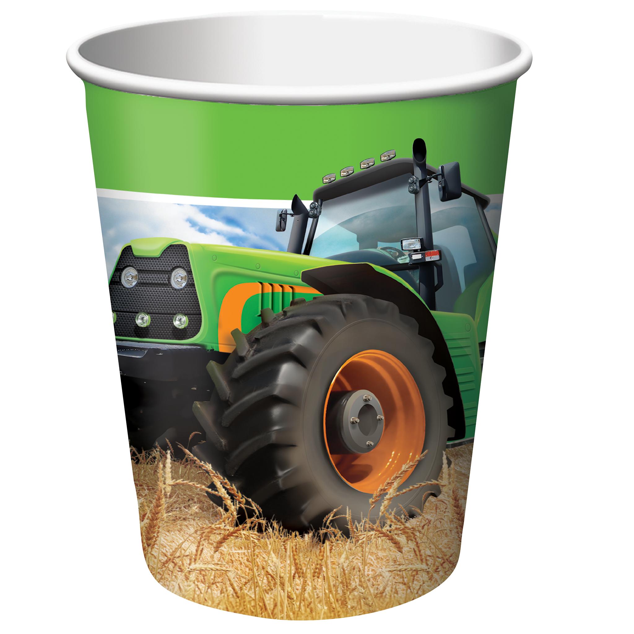 John Deere Party Tractor Cups