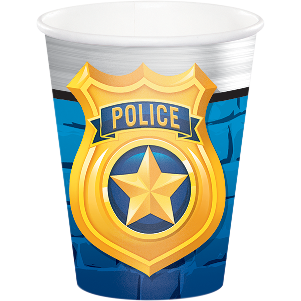 Police Party 9 Oz Cups