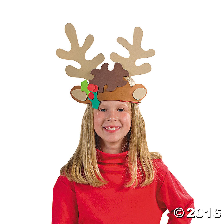 Reindeer Antler Headband Craft Kit 12pk Party Supplies