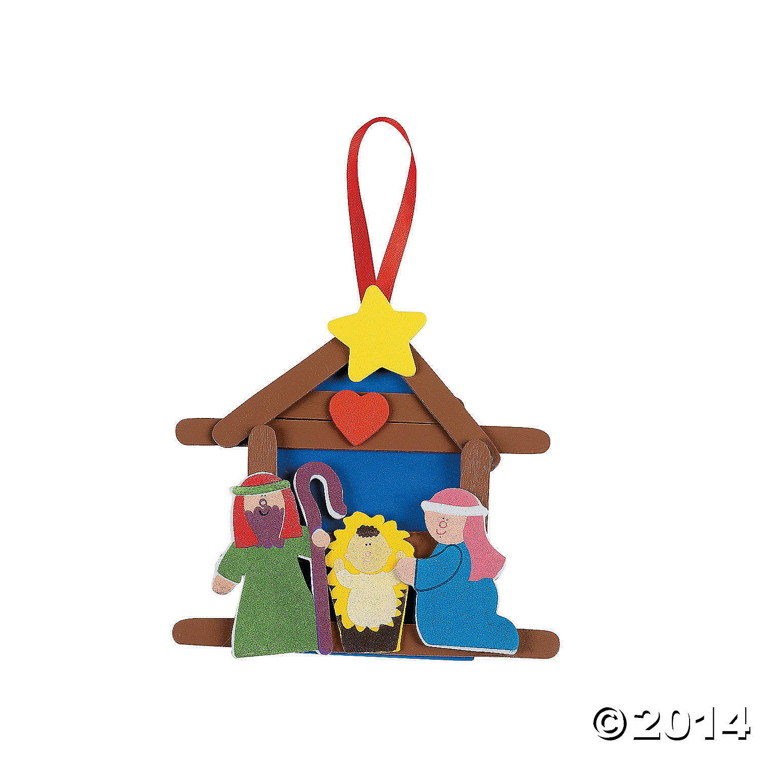 Religious Nativity Ornament Craft Kit 12pk Party Supplies