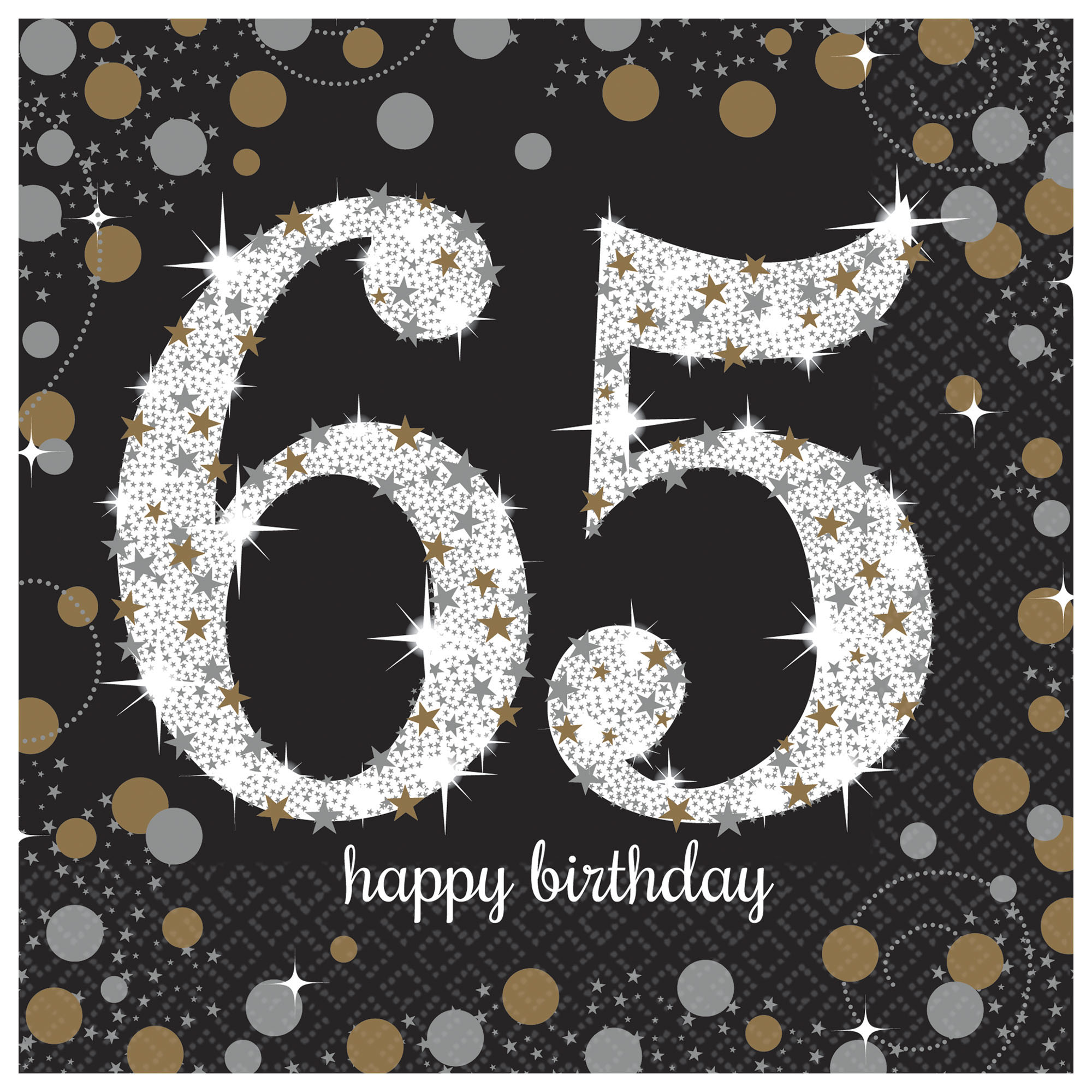 50 OFF 65th Birthday Lunch Napkins