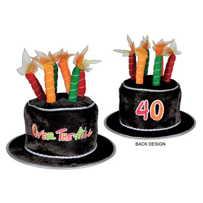 40th Birthday Plush 40 Over The Hill Cake Hat