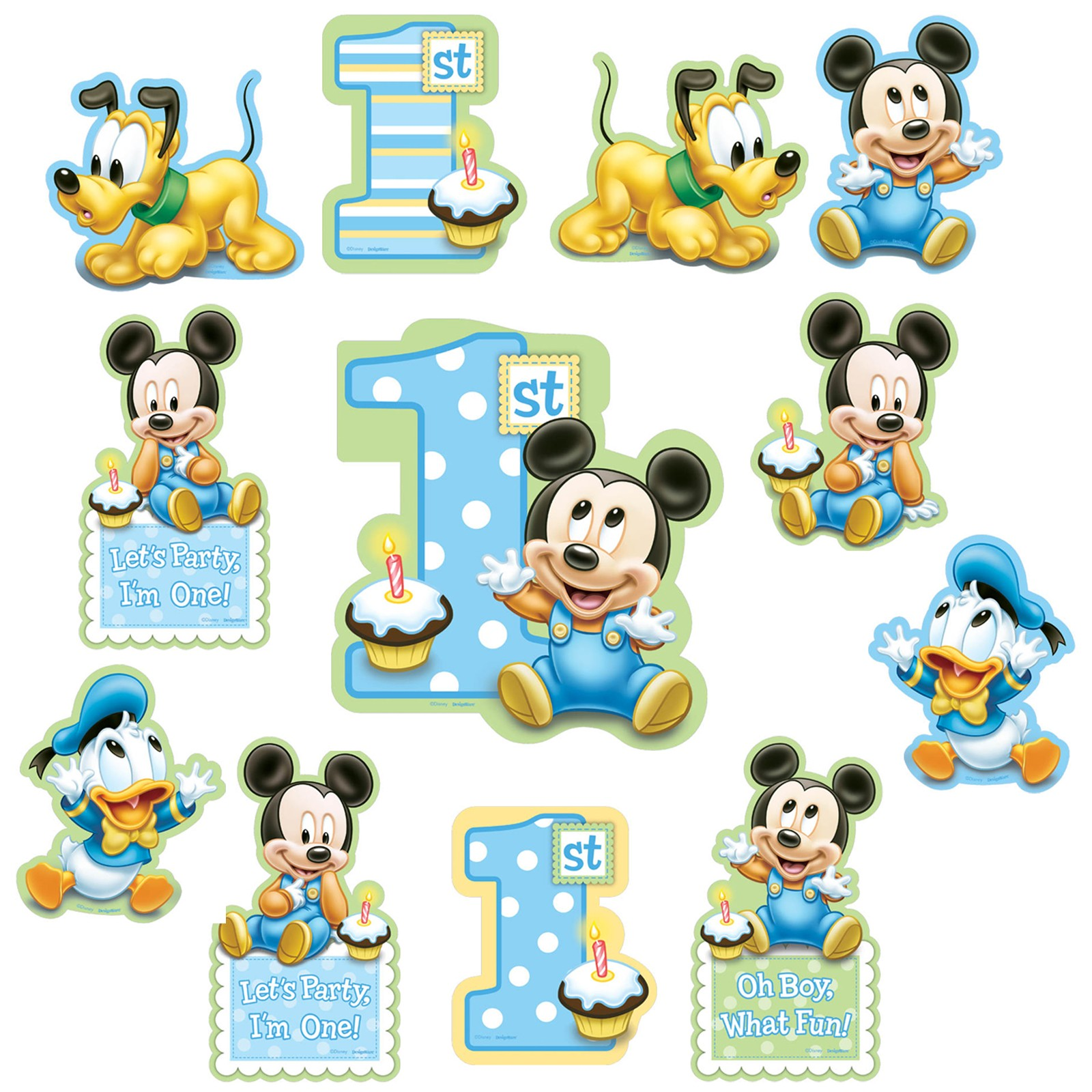 Paper Cut Out Blue Balloons First Birthday Decoration: Mickey Mouse 1st Birthday Party Supplies Party Supplies