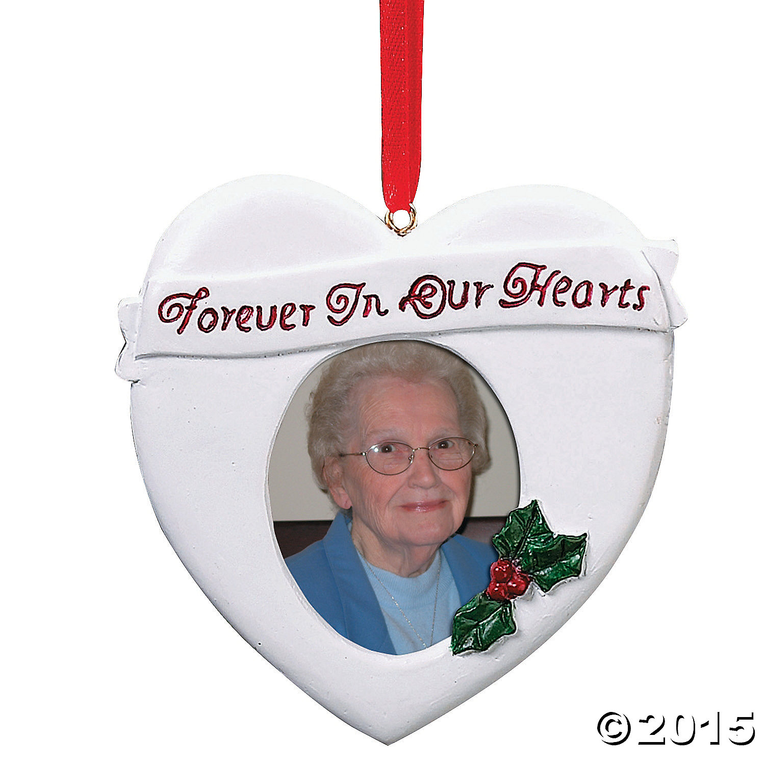 Forever In Our Hearts Picture Frame Christmas Ornament Party