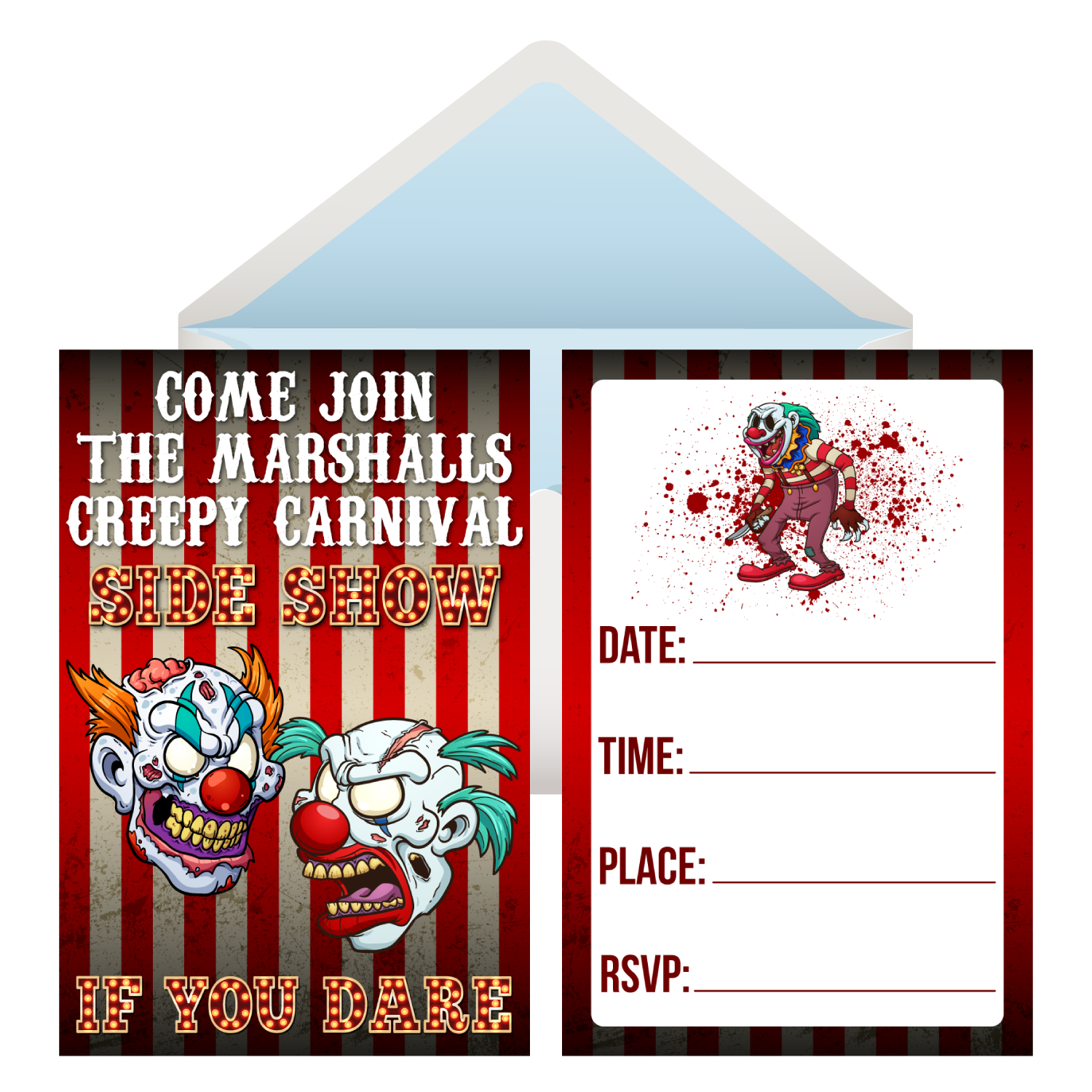 Creepy Carnival PERSONALIZED Invitations