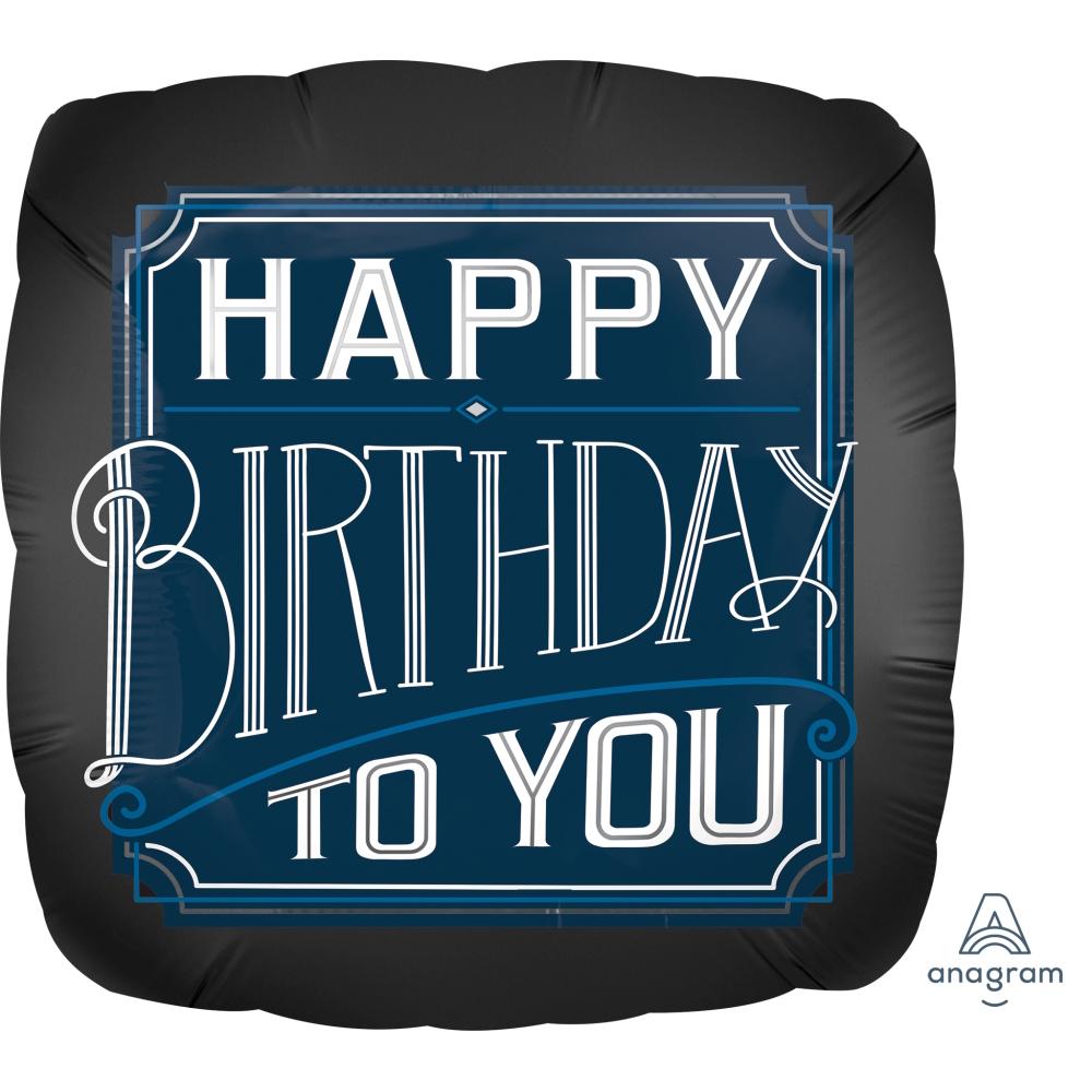 Happy Birthday Man 18 Foil Balloon