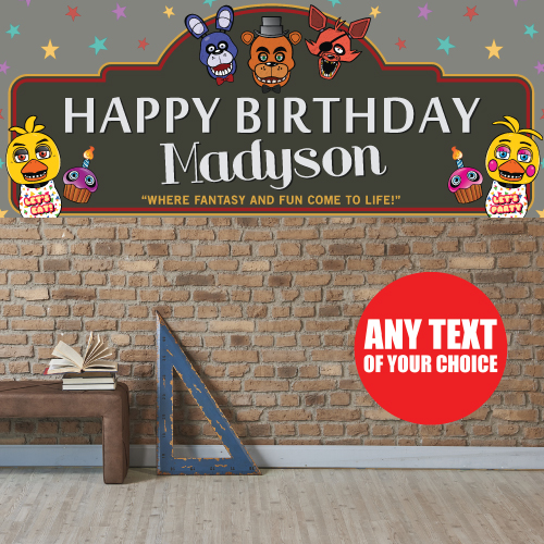 Five Nights At Freddys PERSONALIZED Giant Banner