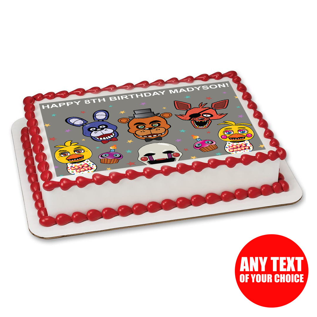 Five Nights At Freddys PERSONALIZED Edible Icing