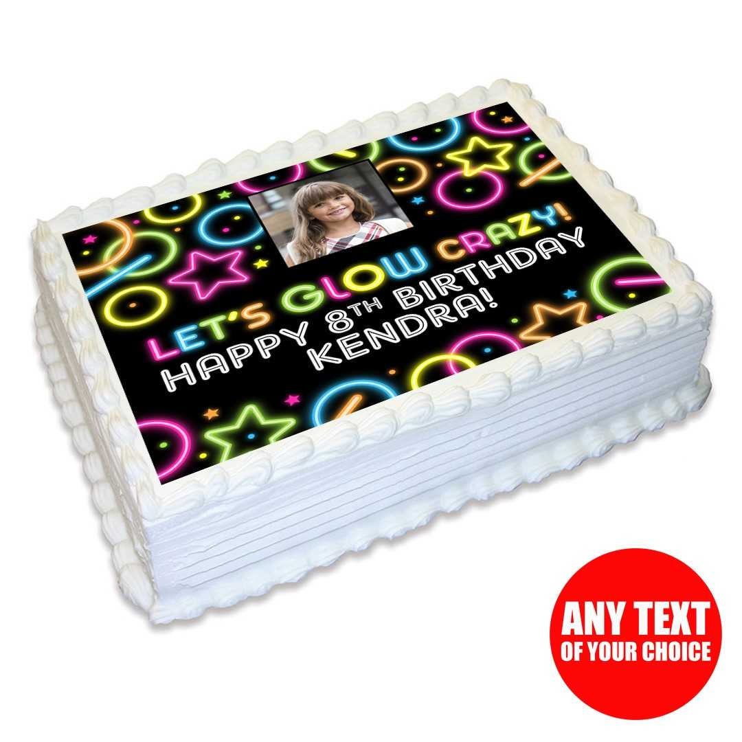 Outstanding Glow Photo Personalizable Edible Icing Party Supplies Canada Personalised Birthday Cards Petedlily Jamesorg