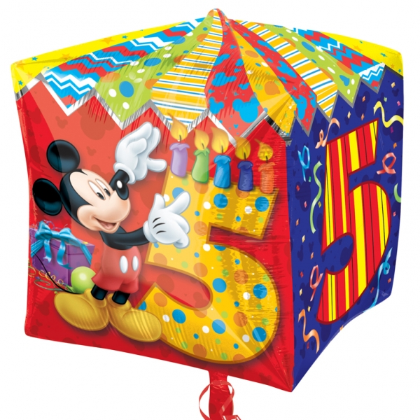 Mickey Mouse Four Sided Age 5 Foil