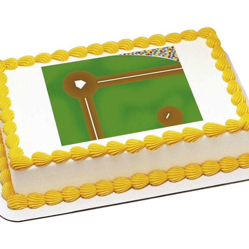 Baseball Edible Icing Background