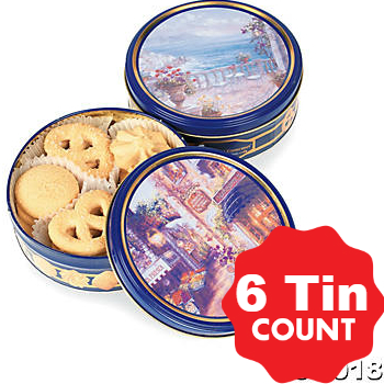 Christmas Butter Cookie Tins 6 Pk Party Supplies Canada Open A Party