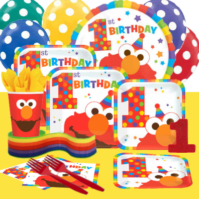 Elmo 1st Birthday Party Pack For 16