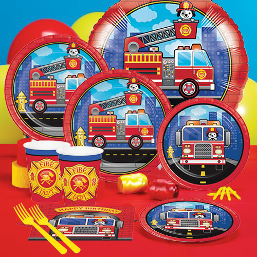 Firefighter Pals Party Pack For 8