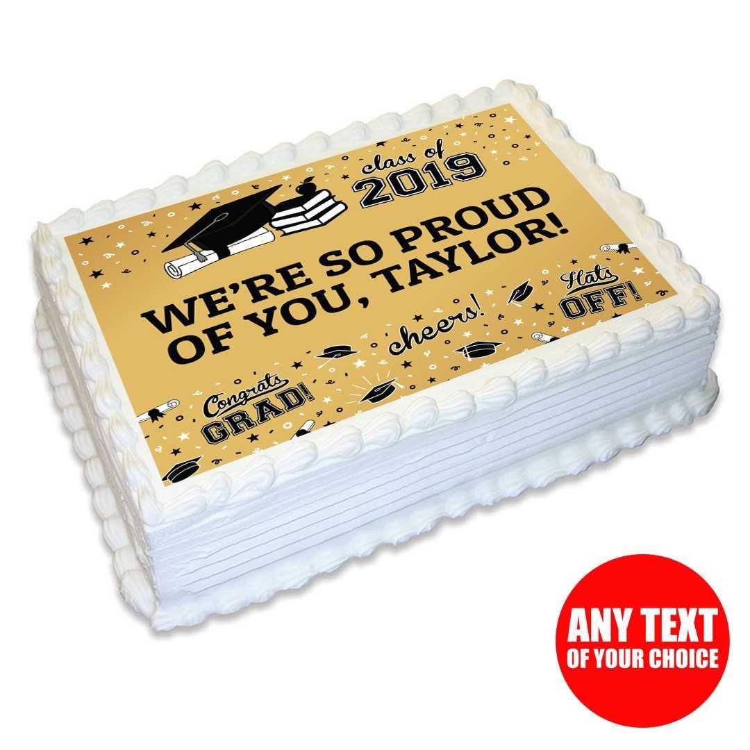 Baking Accs. & Cake Decorating Grad Smiley Graduation Congratulations Image Cake Topper Frosting Sheet #722 Home & Garden