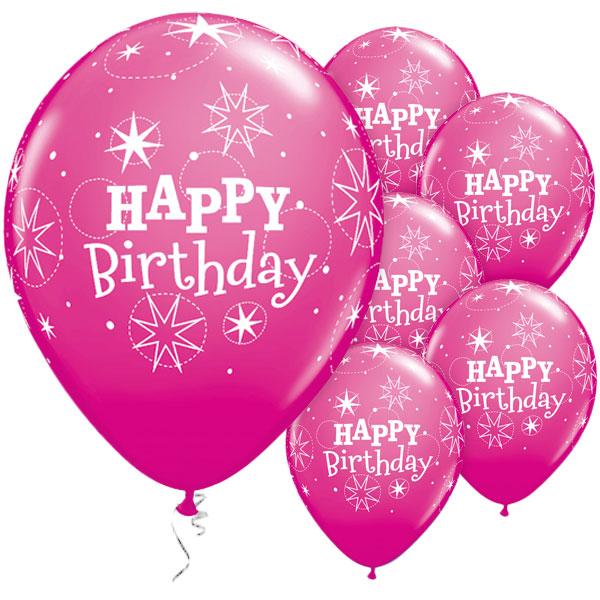 Happy Birthday Sparkle Pink Latex 50pk Party Supplies Canada