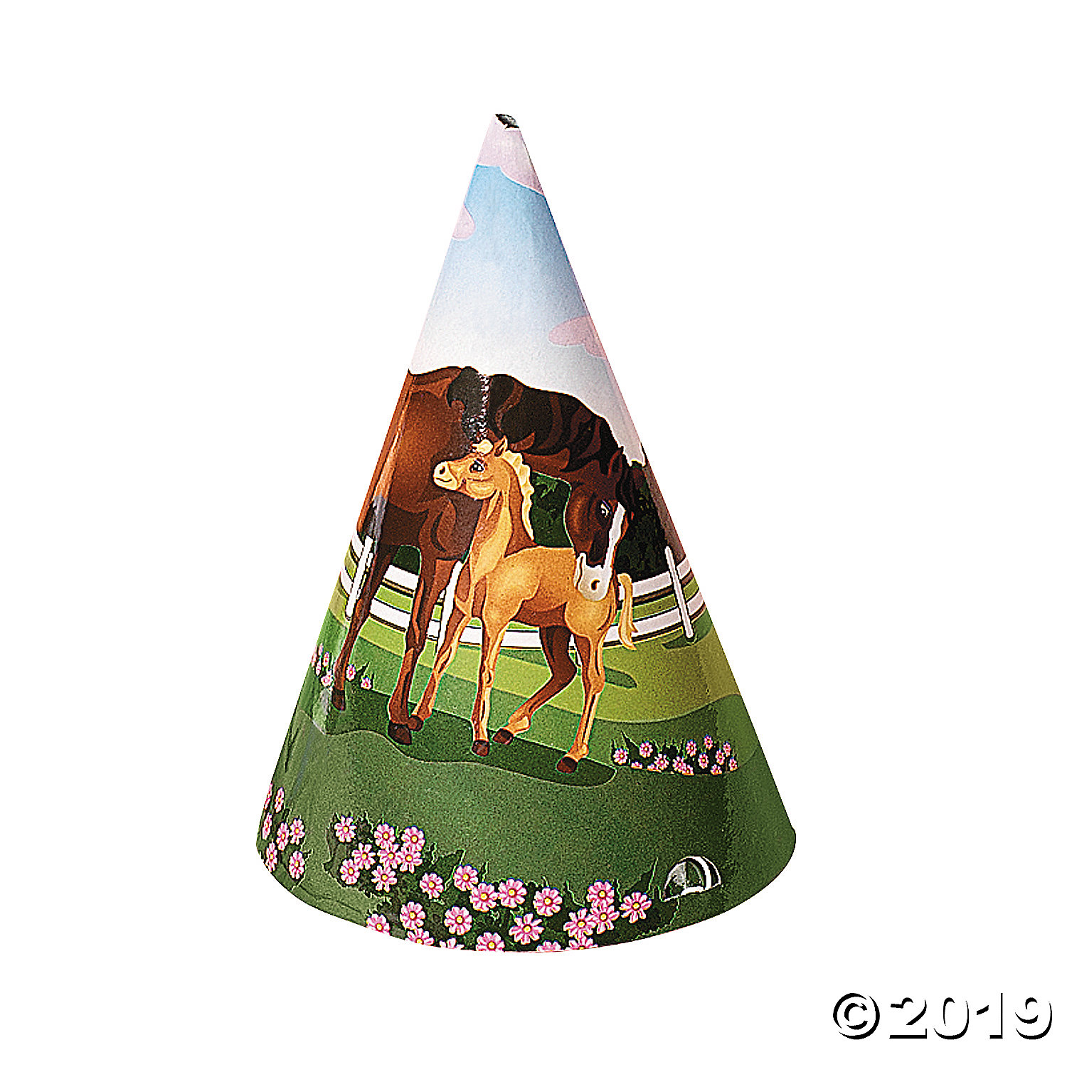 Mare and Foal Cone Hats 8pk Party Supplies Canada - Open A Party