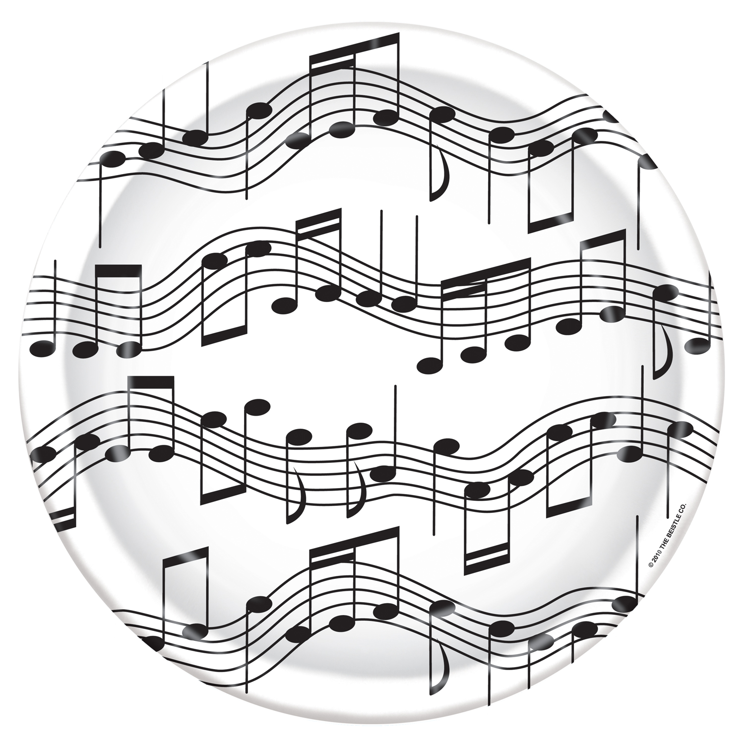 music themed party supplies party supplies canada open a party Gold Birthday Invitations musical note dinner plates 8 pk