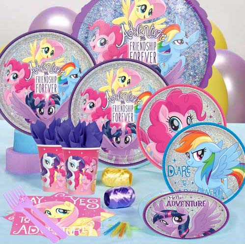 50 OFF My Little Pony Metallic Sparkling Party Pack For 8