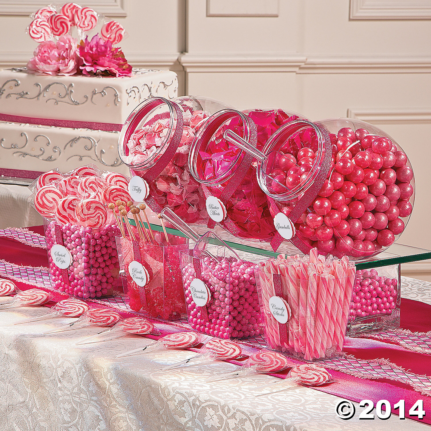 Astonishing Pink Candy Buffet Assortment 1706Pc Party Supplies Canada Interior Design Ideas Grebswwsoteloinfo