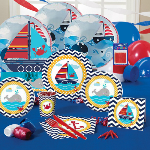 Nautical Deluxe Party Pack For 16