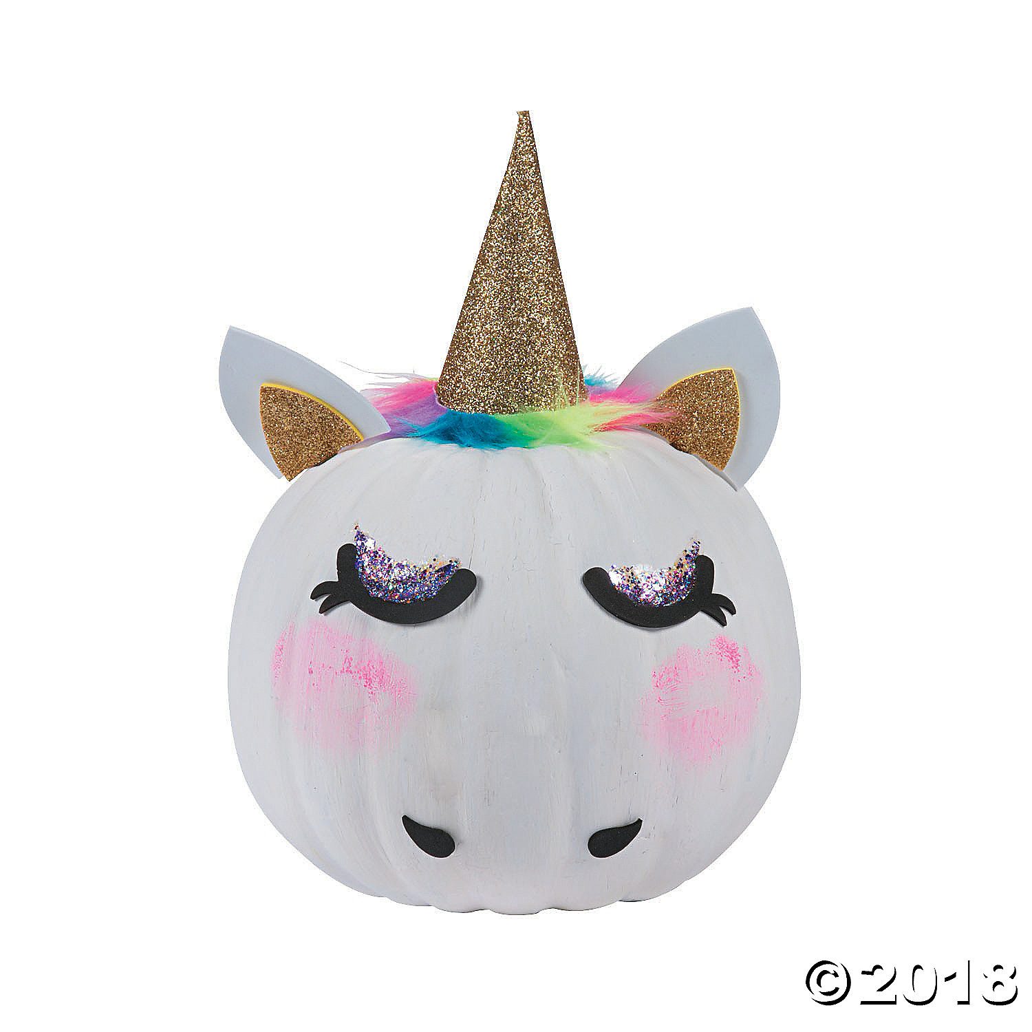 2020 Let S Glow Crazy Theme Kit: Unicorn Pumpkin Decorating Craft Kit-6Pk Party Supplies