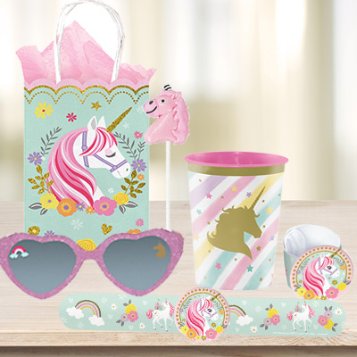 Unicorn Metallic 1st Bday Party Supplies Canada