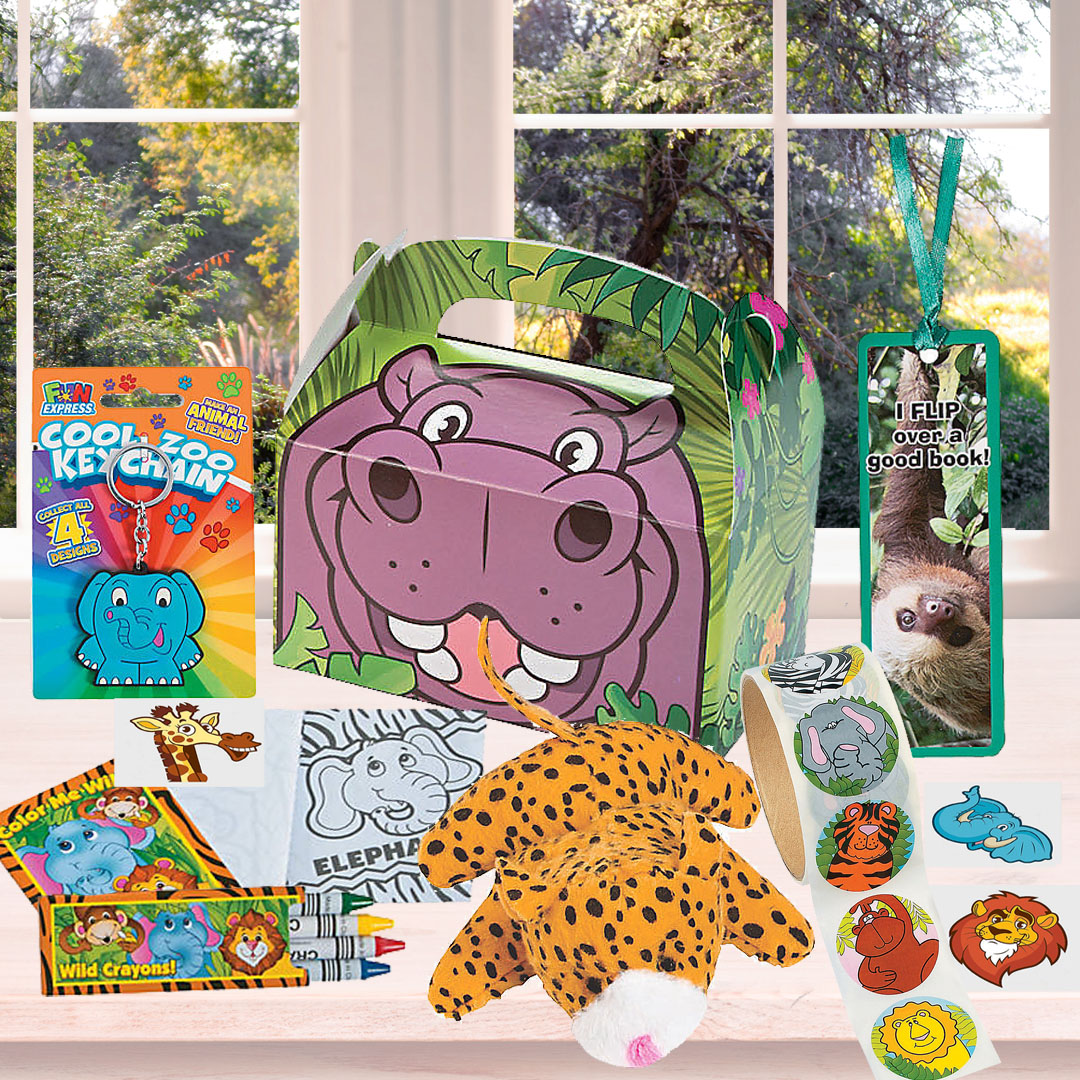 Hippo Coloring Party Favor Supplies Zoo Animal Jungle Safari Baby Shower Birthday Party Decorations Crown Printable CostumeMask Kids