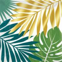 Key West Metallic Palm Leaves Party Suppl