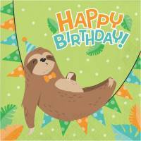 Sloth Birthday Party Supplies