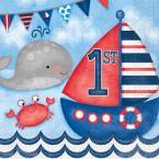 Nautical Boy 1st Birthday Party Supplies