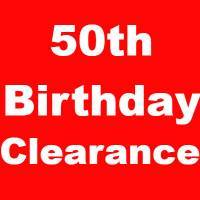 50th Birthday Clearance Party Supplies
