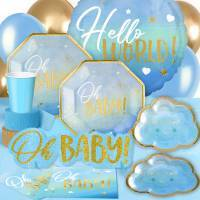 *Oh Baby Shower Blue Metallic